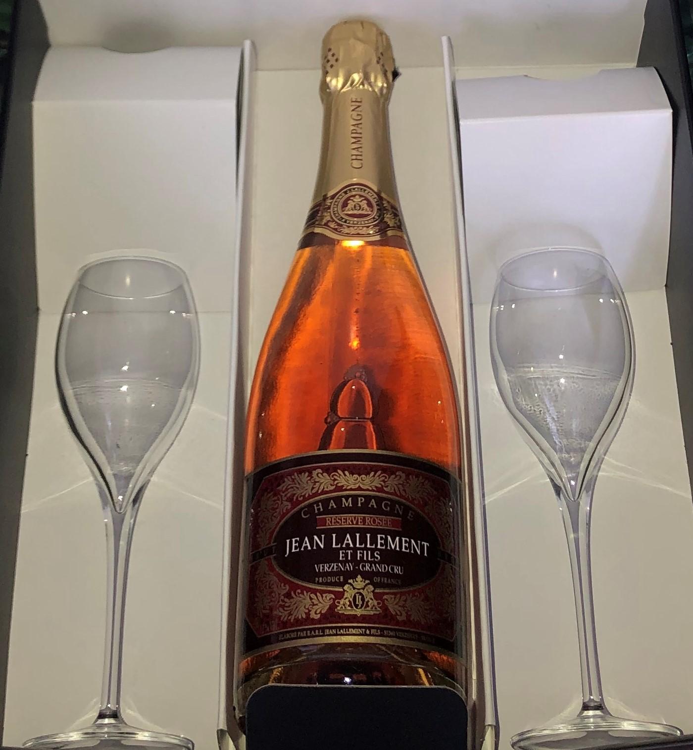 Coffret 1 bouteille Rosé + 2 flûtes